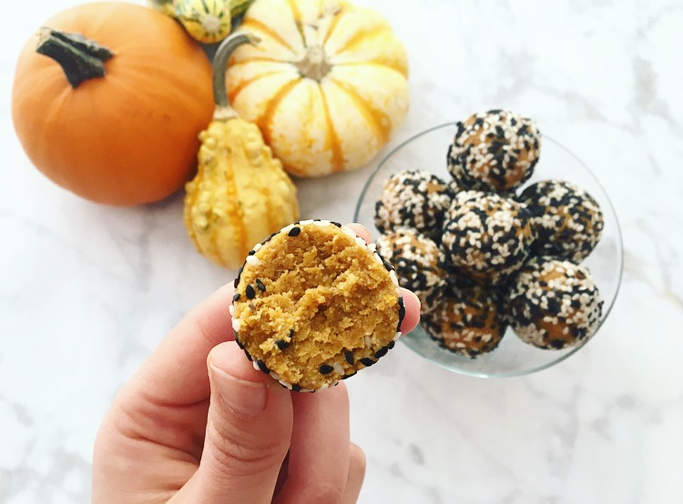 Pumpkin Tahini Energy Bites
