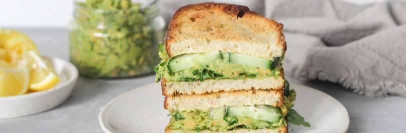 Creamy Chickpea & Avocado Sandwich